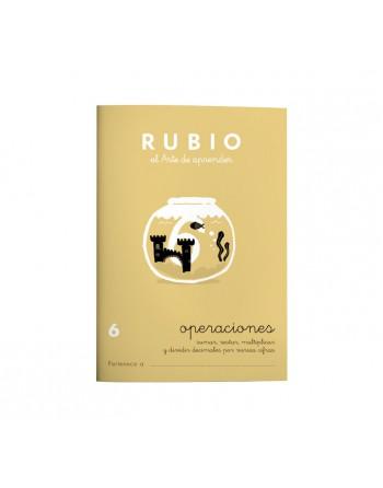 RUBIO PACK 10 CUADERNOS PROBLEMAS 6 - P6