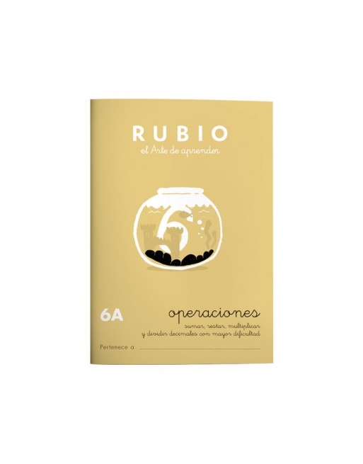 RUBIO PACK 10 CUADERNOS PROBLEMAS 6 - P6A