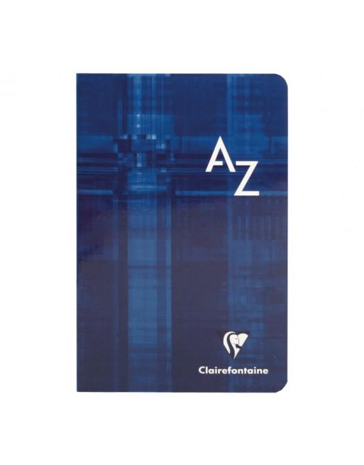 CLAIREFONTAINE LIBTRETA CON INDICE GRAPADO A-Z CL FUN48H 90G 110X170 - 63609C