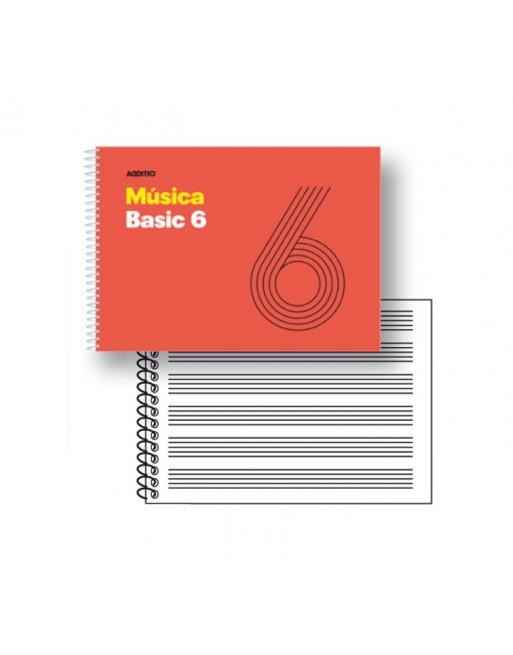 ADDITIO CUADERNO MUSICA 6 PENTAGRAMAS 25HJ - M06
