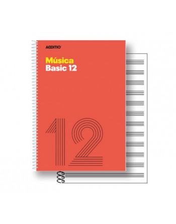 ADDITIO CUADERNO MUSICA 12 PENTAGRAMAS 20HJ BASIC - M14
