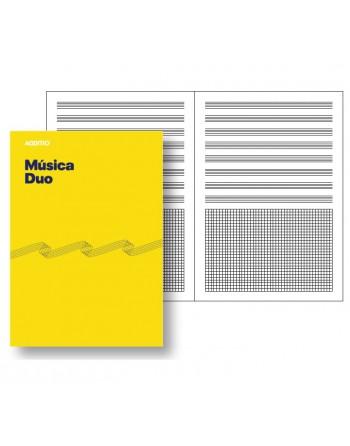 ADDITIO CUADERNO MUSICA 8 PENTAGRAMAS 20HJ CUADR. DUO - M08