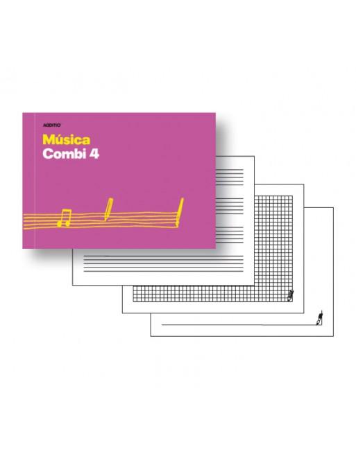 ADDITIO CUADERNO MUSICA COMBI 4 PENTAGRAMAS 24H - M45