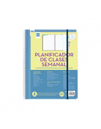 FINOCAM PLANIFICADOR CLASES SEMANA VISTA 230X310 CASTELLANO - 5340400