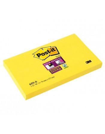 POST-IT BLOC NOTAS SUPER STICKY 76X127 AMARILLO - 655-S