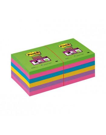 POST-IT PACK 12 NOTAS 76X76 REPOSICIONABLES ARCOIRIS - POS 654-12SSUC