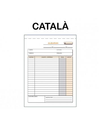 LOAN TALONARIO ALBARAN 4? 50X2 HOJAS DUPLICADO AUTOCOPIATIVO CATALA - T-120/C
