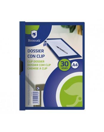 BISMARK PACK 5 DOSSIER CLIP A4 AZUL PP - 531593