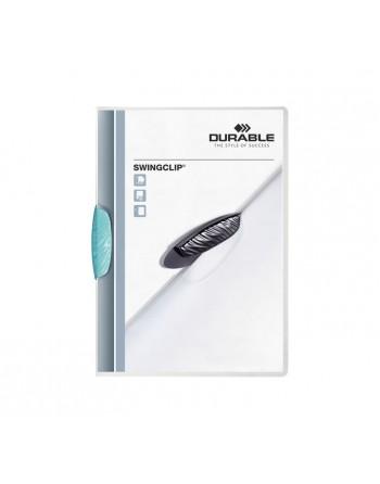 DURABLE CARPETA SWINGCLIP TRANSPARENTE REVERSO AZUL CLARO 30 HOJAS A4 - 2260-14