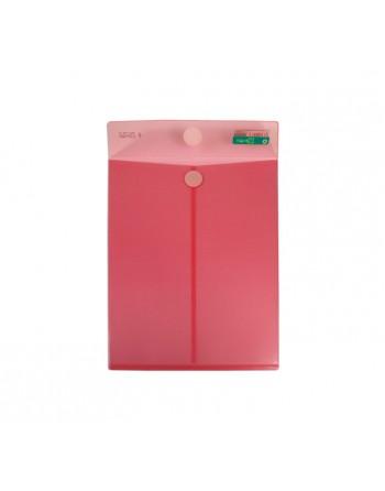OFFICE BOX 10 BOLSAS CIERRE VELCRO A4+ CLASSIC ROJO - 90046