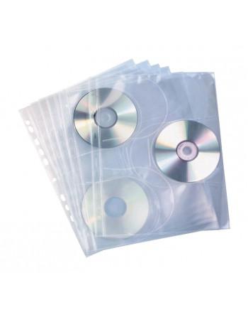 ELBA 10 FUNDAS PARA 3 CD POLIPROPILENO CON TALADRO - ELB.100206995