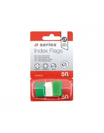 ASERIES INDICES 50H AUTOADHESIVAS 12X44MM VERDE - AS0906