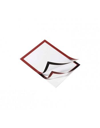 DURABLE BOLSA 2 DURAFRAME A3 MAGNETICOS ROJO - 4873-03