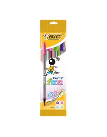 BIC BLISTER 4 BOLIGRAFO CRISTAL FUN - 8957921