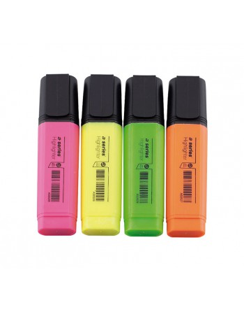 ASERIES PACK 4 MARCADORES FLUORESCENTES 1-5MM SURTIDO - AS0564