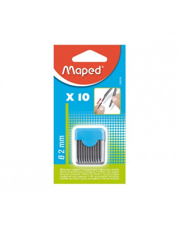 MAPED 10 MINAS BLACK PEPS 2MM COMPAS - 134210