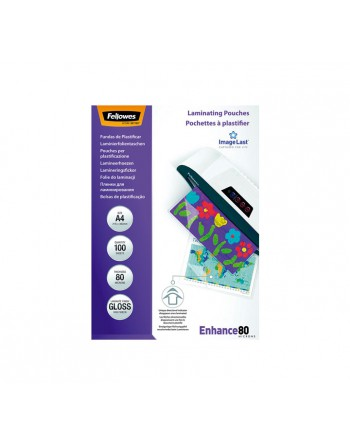 FELLOWES PACK 100 BOLSAS PARA PLASTIFICAR 80 MICRAS A4 - 5306114