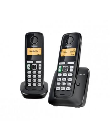 GIGASET TELEFONO INALAMBRICO NEGRO - SI-A220DUO