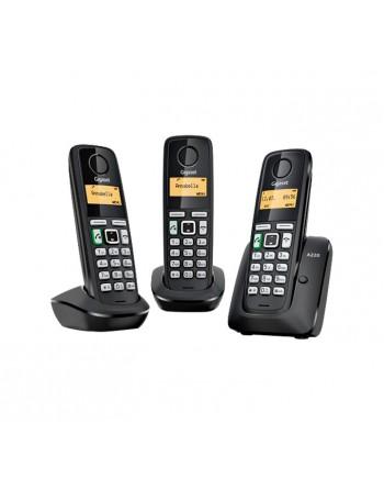 GIGASET TELEFONOS INALAMBRICOS A220 TRIO NEGRO - SI-A220TRIO