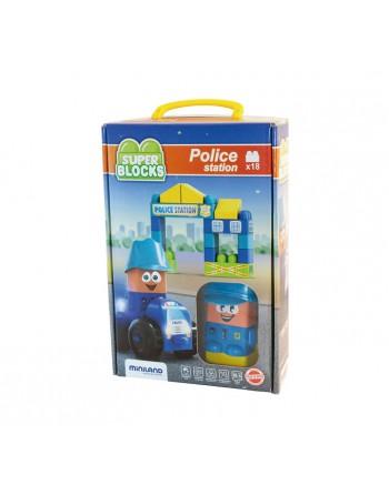 MINILAND 18 PIEZAS SUPER BLOCKS POLICIA - 32353