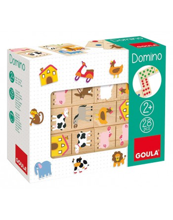 GOULA DOMINO GRANJA 28PIEZAS MADERA - 50267