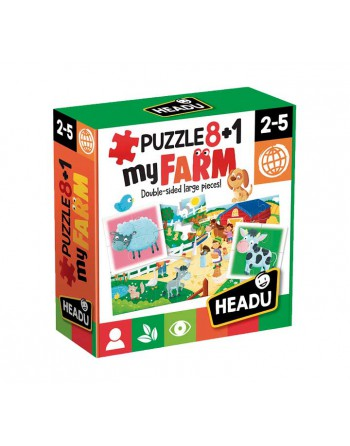 HEADU 8+1 PUZZLES DOBLES MY FARMARIO - 1041741