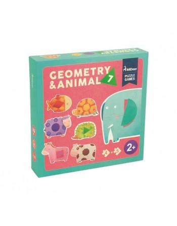 MIDEER SET 7 PUZZLES ANIMALES+GEOMETR. - MD3022
