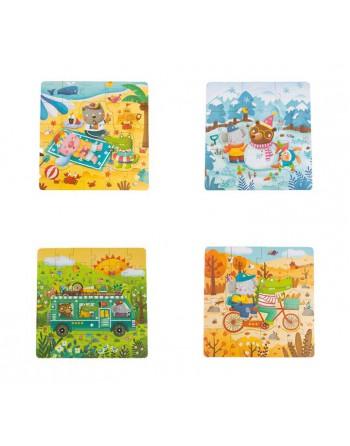 MIDEER PACK 4 PUZZLES PROG. ESTACIONES - MD3016
