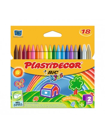 BIC KIDS ESTUCHE 18 PLASTIDECOR SURTIDOS - 8757711