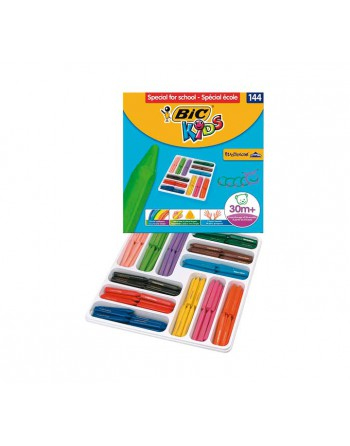BIC KIDS 144 LAPIZ CERA PLASTIDECOR KIDS SURTIDO - 887833
