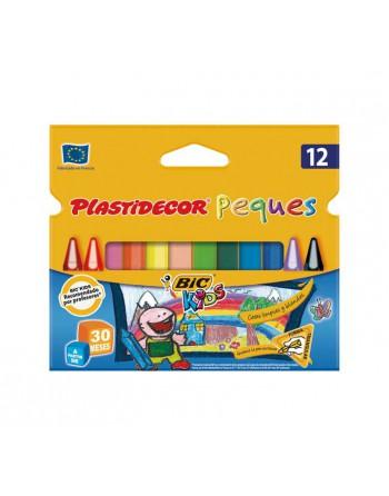 BIC KIDS ESTUCHE 12 PLASTIDECOR TRIANGLE - 8757741