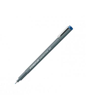 STAEDTLER 10 ROTULADOR CALIBRADO PIGMENT LINER 308 0.3MM AZUL - 308 03-3