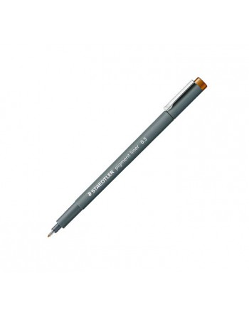 STAEDTLER 10 ROTULADOR CALIBRADO PIGMENT LINER 308 0.3MM MARRON CL - 308 03-7