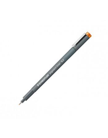 STAEDTLER 10 ROTULADOR CALIBRADO PIGMENT LINER 308 0.3MM NARANJA - 308 03-4