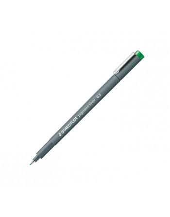 STAEDTLER 10 ROTULADOR CALIBRADO PIGMENT LINER 308 0.3MM VERDE - 308 03-5