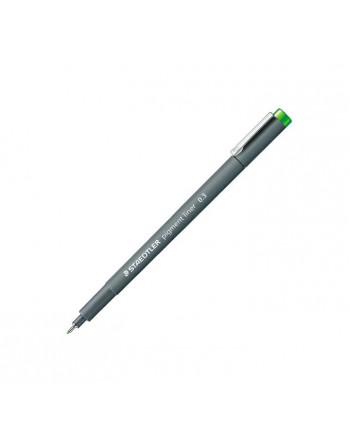 STAEDTLER 10 ROTULADOR CALIBRADO PIGMENT LINER 308 0.3MM VERDE CLARO - 308 03-51