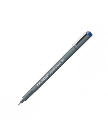 STAEDTLER 10 ROTULADOR CALIBRADO PIGMENT LINER 308 0.5MM AZUL - 308 05-3
