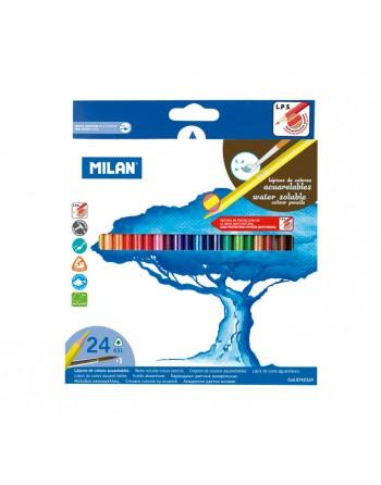 MILAN 24 LAPICES ACUARELABLES SURTIDO - 0742324