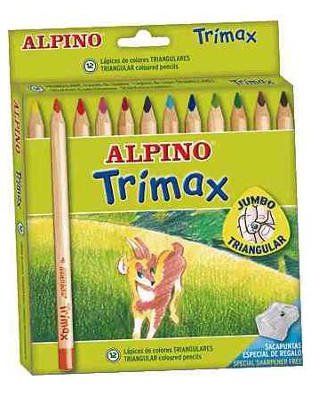 ALPINO 12U LAPICES DE COLORES TRIMAX - AL000113