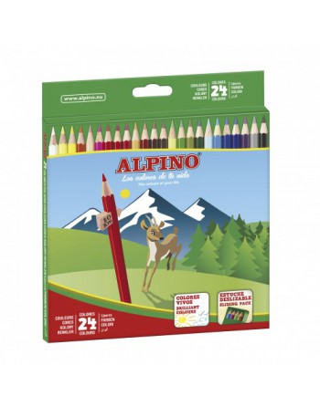 ALPINO 24U LAPICES DE COLORES SURTIDOS - AL010658