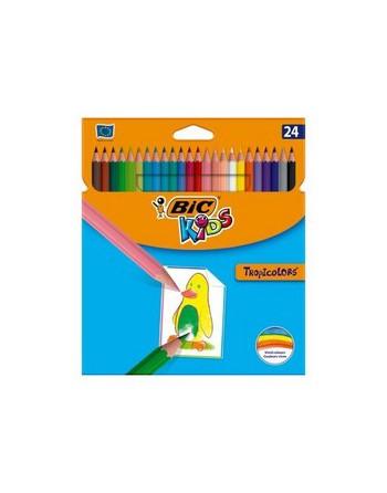 BIC KIDS ESTUCHE 24 LAPIZ COLOR TROPICOLORS - 9375182
