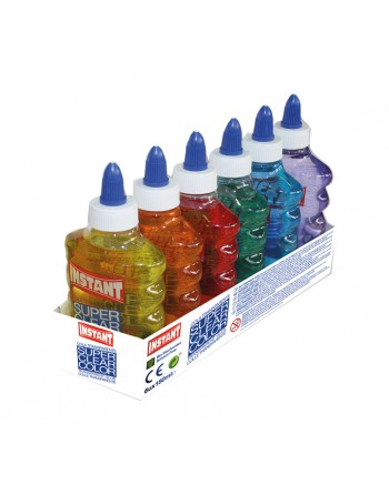 INSTANT CAJA 6U COLA SUPERCLEAR COLOR SURTIDO 180ML - 14691