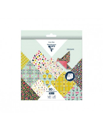 CLAIREFONTAINE BLISTER 60H PAPEL ORIGAMI 3 MED. FLORES - 95344C
