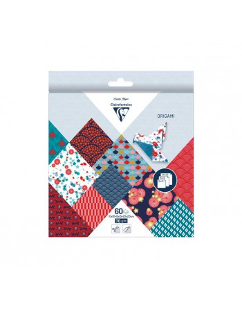 CLAIREFONTAINE BLISTER 60H PAPEL ORIGAMI 3 MED. HANAYO - 95347C