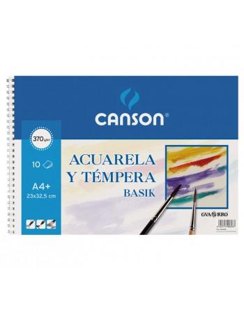 CANSON BLOC 10H ACUARELA A4 370G BASIK - C200400698