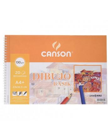 CANSON BLOC 20H BASIK 130G A4 MICROPERFORADO CON RECUADRO - C200408061