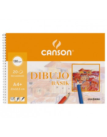 CANSON BLOC 20H BASIK 130G A4 MICROPERFORADO CON TALADROS - C200409580
