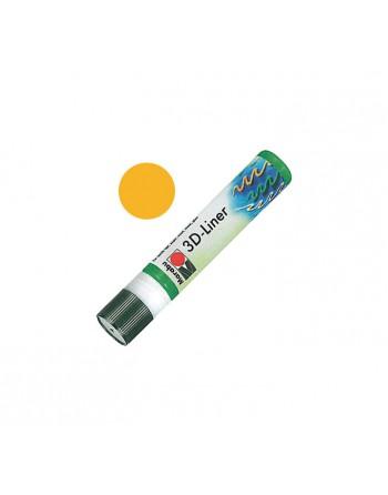 MARABU ROTULADOR TEXTIL 3D-LINER 25ML AMARILLO MEDIO - 180309621
