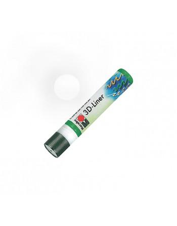 MARABU ROTULADOR TEXTIL 3D-LINER 25ML BLANCO - 180309670