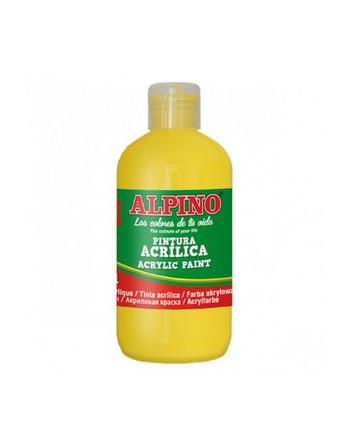 ALPINO BOTE 250ML PINTURA ACRILICA AMARILLO - DV000021